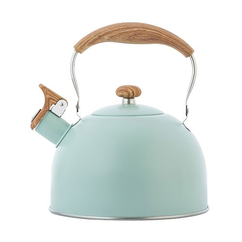 Nordic Simple 2.5L Whistle Kettle Gas Induction Cooker Universal Coffee And Tea Kettle With Wood Grain Anti-scalding Handle