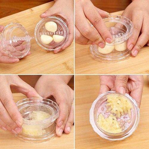 1pc Garlic Presses Manual Mashed Manually Processor Chopper Fruit Slicer Prevent Kitchen Vegetable Tool Crusher Prensas De Ajo