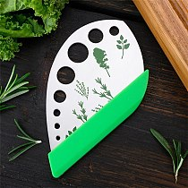 Kitchen Artifact Multifunctional Stainless Steel Stripper Vegetable Leaf Removal Peeling Tool with Protective Cover Kitchen Tool