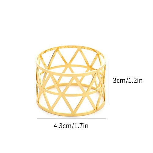 Prismatic Alloy Napkin Rings Wedding Napkin Buckle Decoration Ring Table Decoration Accessories for Dinner Table Napkin Party