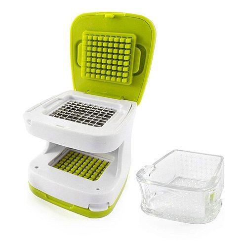 2 In 1 Stainless Steel Cuisine Garlic Crusher Cube Onion Vegetable Cutter Kitchen Accessories Gadgets Garlic Maker