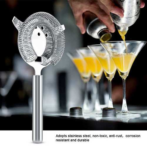 Bar Tools Stainless Steel Cocktail Drainer Filter Beverage Filtering Tool for Bar Restaurant 19.7*10.4cm barware wine Cocktail