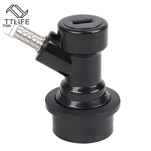 TTLIFE New Home Brewing Beer Keg Ball Lock Disconnect Dispenser Liquid Gas Connector Barbed/Threaded Mouth 1/4'' Beer Brewing