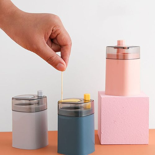 Push-type automatic toothpick holder plastic Nordic toothpick box Unique shape full of creativity Automatic pop-up convenient