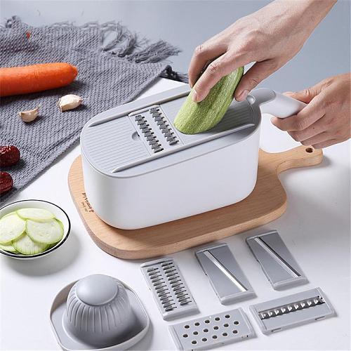 Vegetable Cutter Dicing Blades Slicer Shredder Durable Fruit Peeler Potato Cheese Drain Grater Chopper Kitchen Accessories Tool