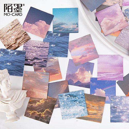 46 Pcs/box Sea Cloud Starry Sky Decor Sticker Scrapbooking Diary Label Stickers Kawaii Diy Decorative Stationery School Supplies