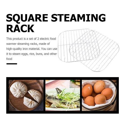 2 Pcs Iron Steaming Racks Electric Food Warmer Steamer Racks Kitchen Gadget