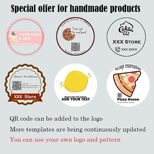 100 Pieces 11 colors supplies Personality LOGO Photo custom stickers label clear adhesive Custom shape label for packing