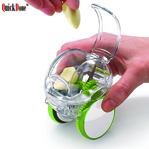 QuickDone1PCS Roller Garlic Grinding Chopper Crusher Grater Multi-Functional With Wheels  Mini Cooking Tools AKC5096