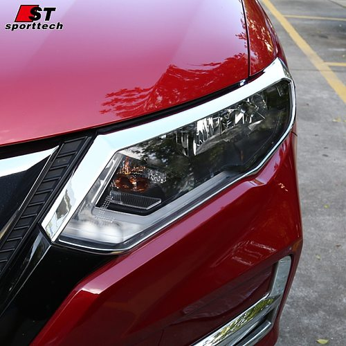 ABS Chrome Front Rear Trunk Headlight Tail Light Lamp Cover Trim Styling Garnish   for Nissan X-Trail X Trail  2017 2018 2019