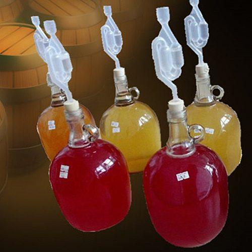 Newest Wine Stoppers Fermentation Homebrew Air lock Grommet One Way Exhaust Water Seal Valve Cork Beer Wine Making Craft