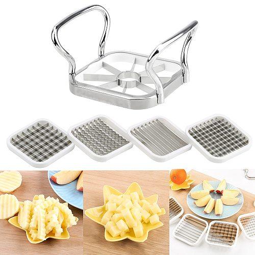 5pcs/set Vegetable Fruits Cutter Slicer Slicer for Apple Pear Potato Chips Kitchen Utensils Tools Stainless Steel