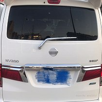 For NISSAN NV200 Evalia 2010 to 2018 Rear Wiper Cover ABS Chrome Rear Window Tail Windscreen Garnish Molding Accessories 3pcs
