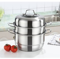 1PC Stainless Steel Multi layer Thick Steamer pot Soup Steam Pot Universal Cooking Pots for Cooker Gas Stove Steam Pot OK 1149