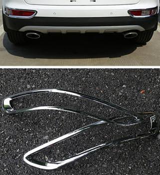 Chrome Rear Fog Tail Light Lamp Cover For Kia Sportage QL 2017 2018 Trim Bezel Bumper Foglight Garnish Molding Styling