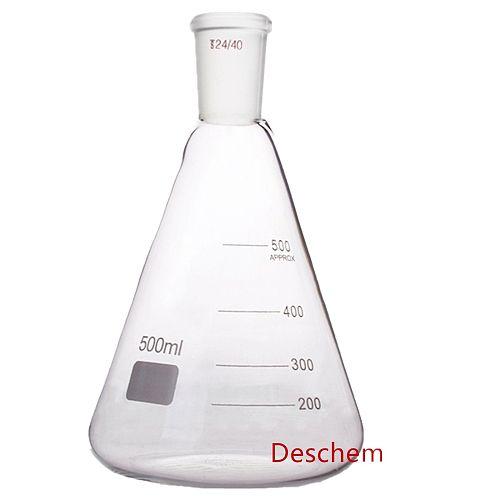 1000ml 24/40 Glass Distillation Apparatus 500ml Erlenmeyer Flask Vacuum Device