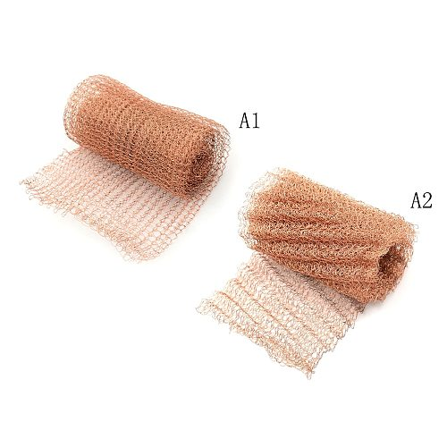 1 PC 100mm Width Corrugated Copper Mesh For Distillation Reflux Moonshine Brewing Pest Control Hot Sale