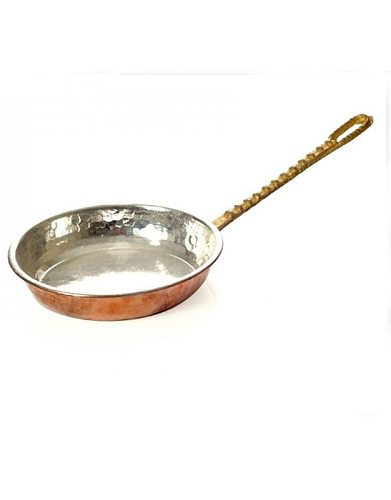 HAND FORGED COPPER SAUCE PANS ROASTED HAIR AND RICE PAN WITH TIN & RICE HANDLE HEALTHY HYGIENIC GIFT KITCHEN COOKING EGG
