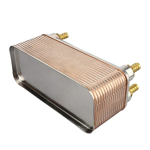 New Update 30 Plate Wort Chiller, Stainless Steel 304 Home Brewing Cooling Chiller, 1/2'' NPT Thread & 4pcs Hose Barb