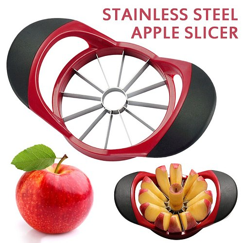Kitchen Gadgets Upgraded Version Stainless Steel 12-Blade Ultra-Sharp Apple Cutter Apple Slicer Kitchen Accessories Knife Cocina