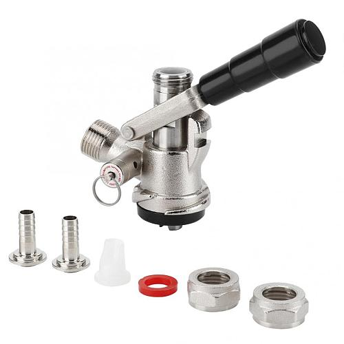 Homebrew Keg Coupler S Type Draft Beer Dispenser with Safety Pressure Relief Valve Home Brewing System Beer