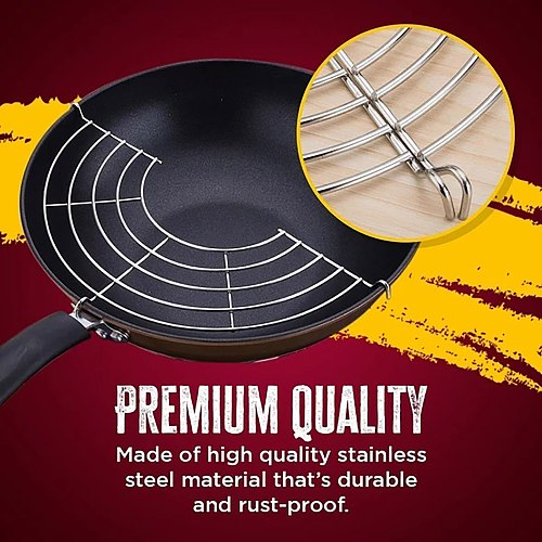 Stainless Steel Frying Pan Oil Drain Rack Heat Insulation Household Cooking Tools Semi-circular Folding Frying Steamer Filter #5