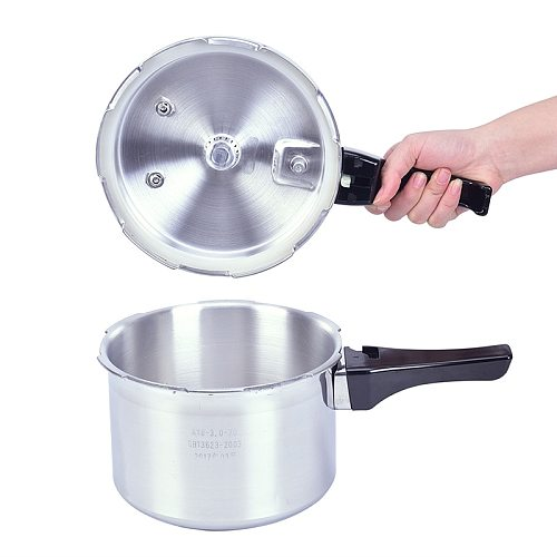 3L Aluminium Alloy Pressure Cooker Gas Stove Cooking Energy-saving Safety Outdoor Camping Cookware Food Steaming Cooking