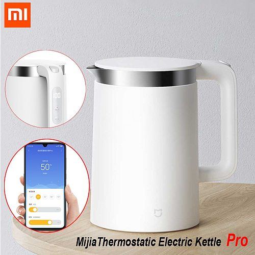 Xiaomi Mijia Smart Electric Water Kettle Pro Thermostatic fast boiling stainless teapot Mihome App Control MJHWSH0YM