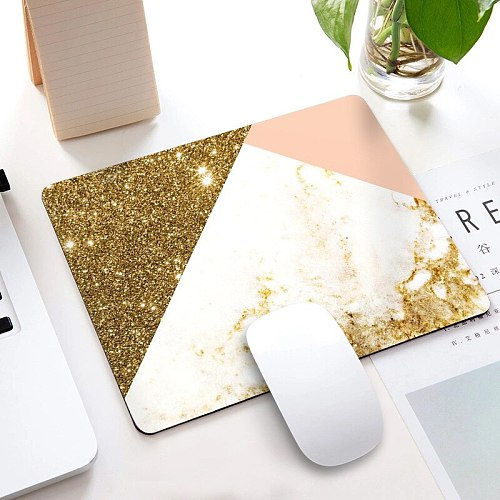 Marble Office Desk Mat School Supplies Office Tools  Desktop Square Mousepad Rubber Gaming Small Mouse Pad Computer 22X18CM