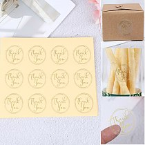 120 Pcs 3.5cm Round Sealing stickers Transparent Design Thank You Seal Stickers DIY Deco Gift Sticker Label Stationery Supplies