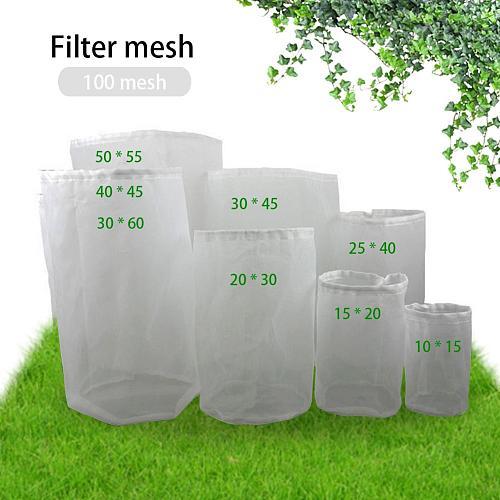 Beer Filter Bag Reusable Nylon Homebrew Beer Wine Brewing Strainer for Brewing Malt Boiling Wort Mash Strainer Tool