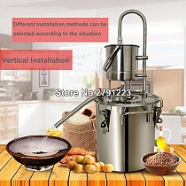 10L / 20L Stainless Copper Home DIY Alcohol Wine Making Device Kit Water Wine Distiller Equipment Essential Oil Brewing Kit