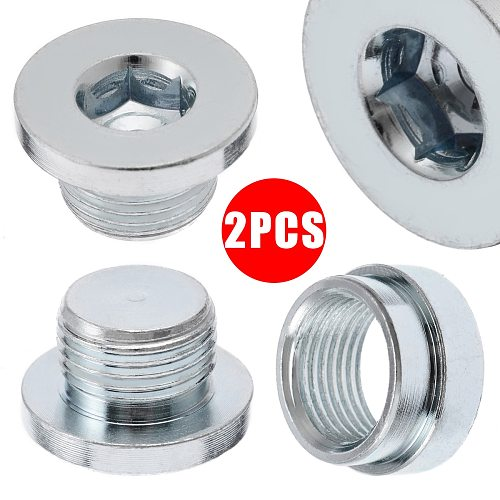 2pcs Car Auto O2 Oxygen Sensor Bung Stainless Steel Iron Weld On Bung Plug Nut Cap Kit M18x1.5 Accessories Parts