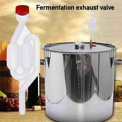 1 Pcs Homemade Wine Vent Air Lock Exhaust One-Way Home Brew Wine Fermentation Airlock Check Valve Water Sealed Valves