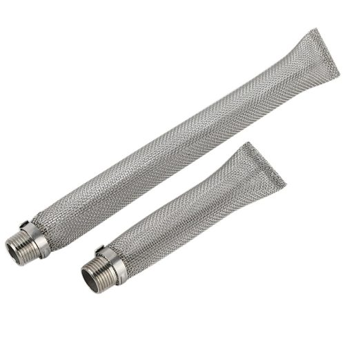 6/ 12 Inches Beer Brewing Filter Tube Stainless Steel Filter Mesh Tube Filter Strainer Kettle Mesh Home Made Wine Brewing Tools
