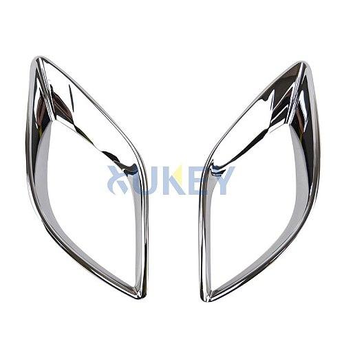 AX For Mazda Cx-5 Cx5 2012 2013 2014 2015 2016 Chrome Rear Reflector Fog Light Foglight Lamp Cover Trim Bumper Molding Garnish