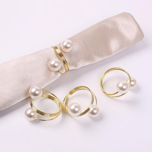 New 1PC Wedding Napkin Rings Table Decoration Hollow Out Family Gatherings Everyday Use Napkin Buckle Holder