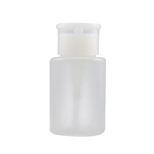 1PC Plastic Push Down Empty Pump Dispenser Nail Polish Remover Alcohol Clear Bottle 120ml