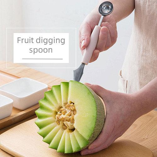 Fruit Carving Knife Watermelon Baller Ice Cream Dig Ball Tools Kitchen utensilios vegetable cutter vegetable slicer coupe legume
