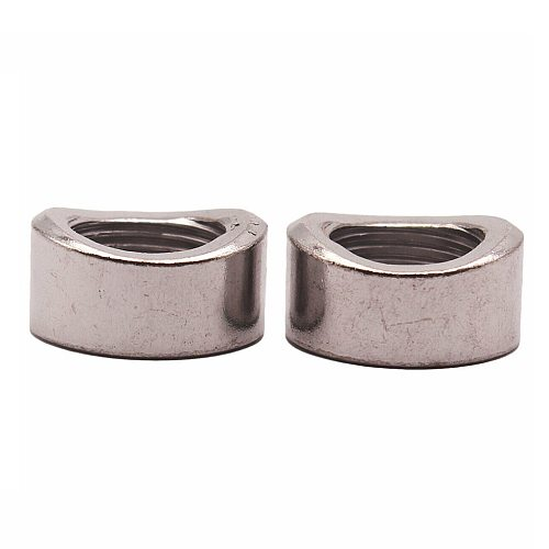 2 Pieces Stainless Steel O2 Oxygen Sensor Exhaust Bung Nut M18x1.5mm Threads