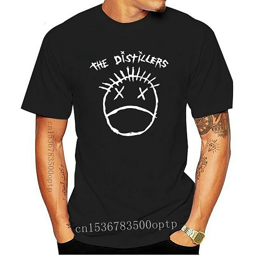 The Distillers Punk Rock Black T Shirt Anti-Wrinkle Fashion Short Sleeve Spring Letters Cool Knitted Over Size S-5XL Shirt