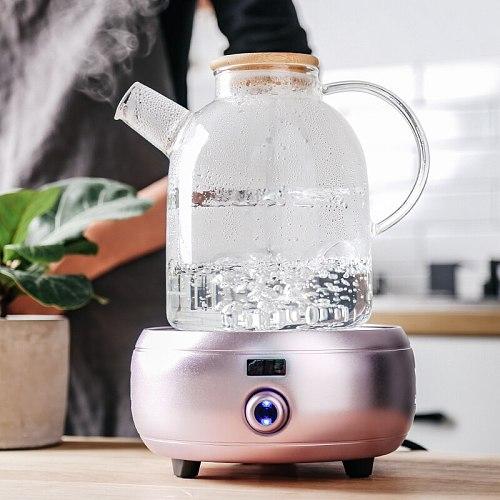 Glass Teapot 1L/1.5L Big Transparent Borosilicate  Heat-Resistant Large Clear  Flower Set Puer Kettle Office Home Tool