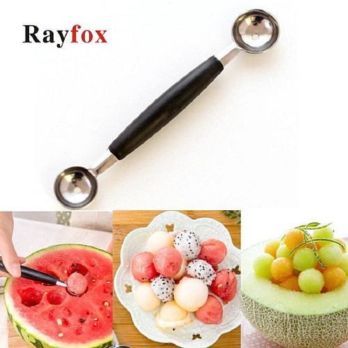 Kitchen Gadgets Double-Headed Multi-purpose Stainless Steel Watermelon Digger Fruit Spoon Digging Ball Spoon Kitchen Accessories