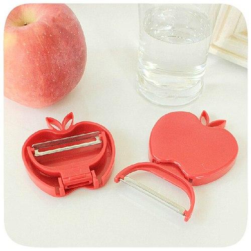 Practical Mini Foldable Apple-shaped Peeler Fruit Parer Peeler Fruit Peeler Grater Vegetable Slicer Kitchen Accessories