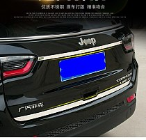 Stainless Steel Rear Trunk Lid Cover Decoration Tail Gate Garnish Strip Trim 2Pcs For Jeep Compass Second Generation 2017 2018