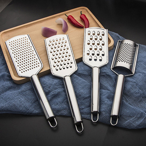 Stainless Steel Handheld Cheese Grater Multi-purpose Kitchen Food Graters for Cheese Chocolate Butter Fruit Vegetable