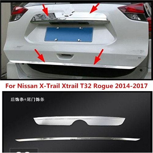 Fit For Nissan X-Trail Xtrail T32 Rogue 2014-2020 Stainless Steel Rear Trunk Tailgate Tail Gate Trim Cover Molding Garnish