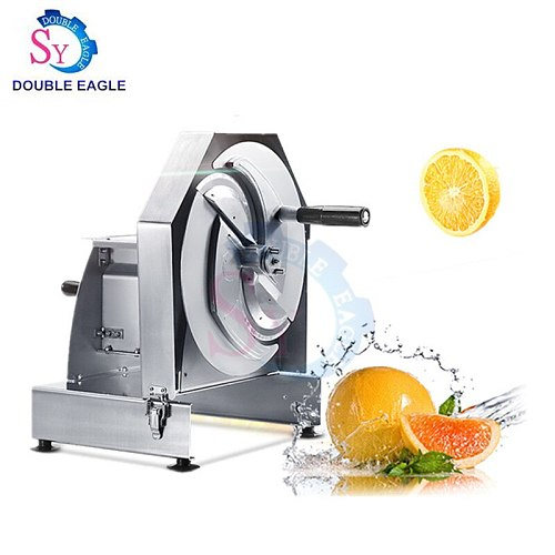 Wholesale Price cheap commercial small stainless steel vegetable slicer/manual orange, lemon, pineapple cutting machine