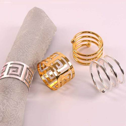 6pcs Serviette Rings Napkin Holder West Dinner Towel Napkin Ring Party Decoration Table Decoration In Stock