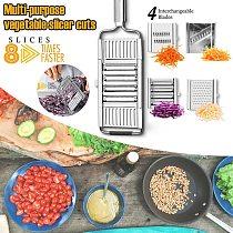 Multi-purpose Vegetable Slicer Stainless Steel Grater Cutter Shredders Fruit Potato Adjutsable Peeler for Fruits and Vegetables